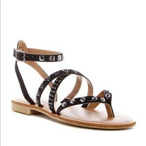 Steve Madden Natallia Studded Black Sandals